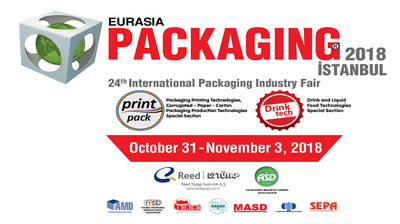 EURASIA PACKAGING Istanbul 2018, October 31-November 3